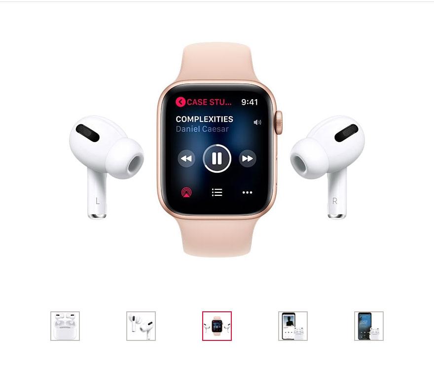Design casti apple AirPods Pro